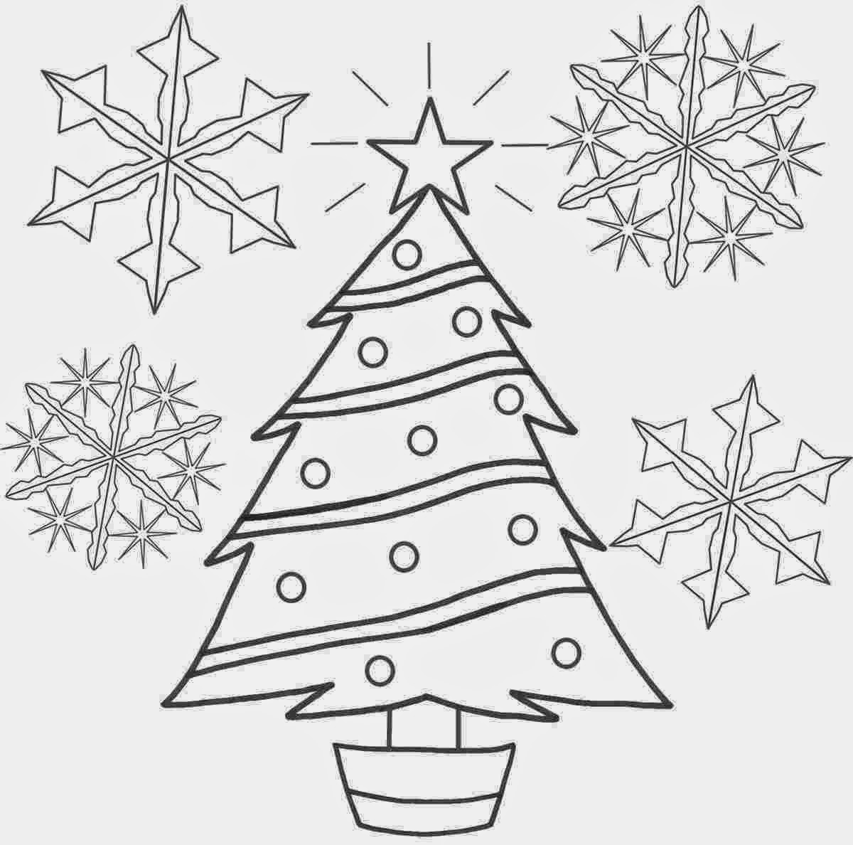 Coloring Images Of Christmas Tree Image