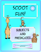 Photo of Scoot Fun! Subjects, Predicates, TeachersPayTeachers.com Ruth S.