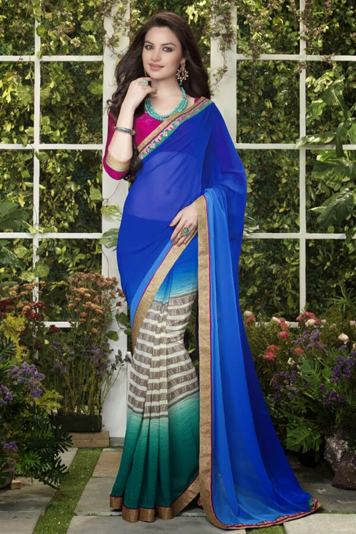 Stylish Georgette Party Wear Saree
