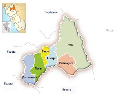 Mapa de Oyón