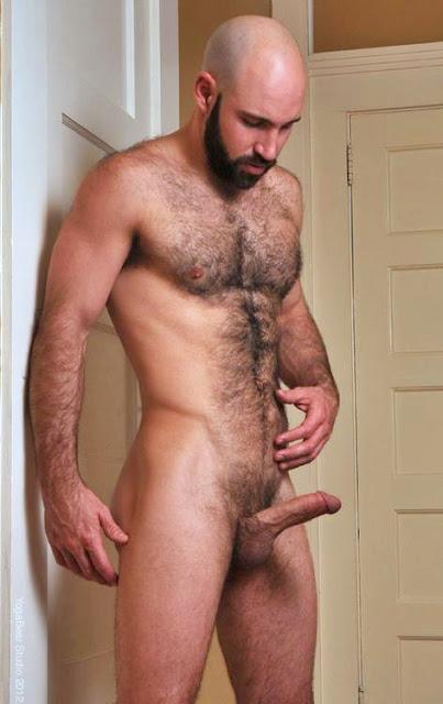 Very hairy muscular men