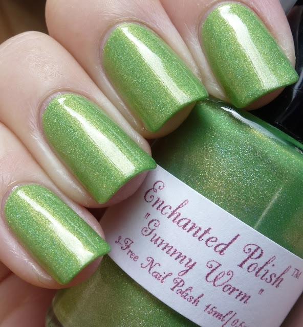 Gummy Worm, Enchanted Polish, swatch