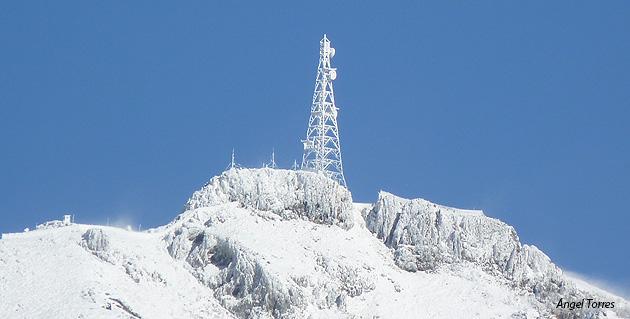 Sierra de la pandera con nieve