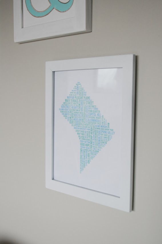 Washington dc neighborhood map art i also love making custom art so if youd like one of these thats in the shape of your hometown state or favorite place let me know solutioingenieria Image collections