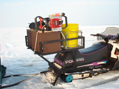 Snowmobile Auger Rack9