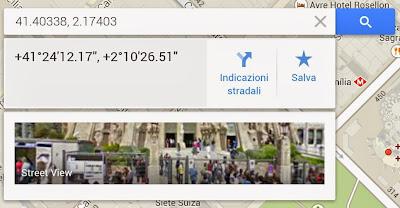 Ricerca indirizzo in Google Mpas per coordinate