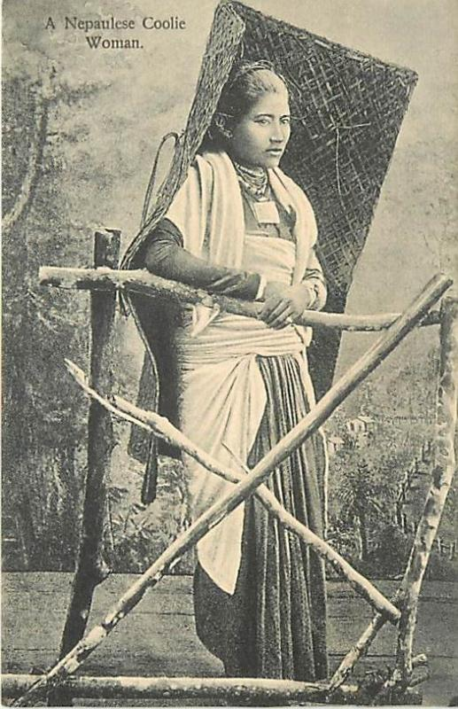Post Card of a Nepalese Coolie Woman