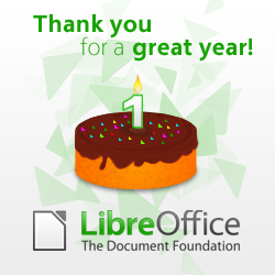 Primer aniversario de LibreOffice