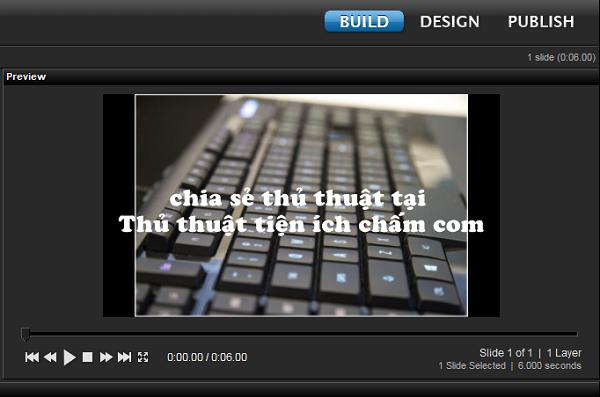 viết tiếng việt có dấu vào video làm vói Proshow Producer