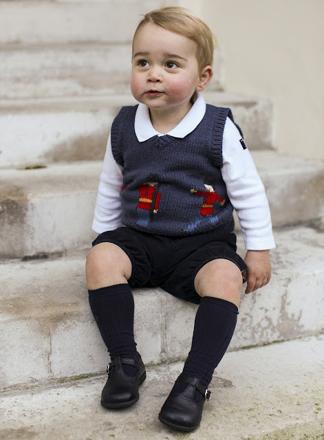 Cath Kidston Jumper - Cath Kidston Shirt - Cath Kidston Shoes Christmas photos of Prince George