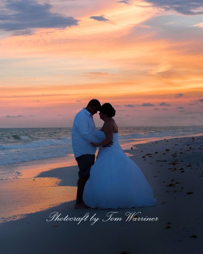 Bride and groom on destin beach