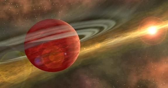 Quente desordem de Júpiter