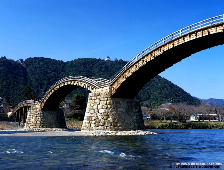 Japan Bridge Scenery Background  Scenery Backgrounds