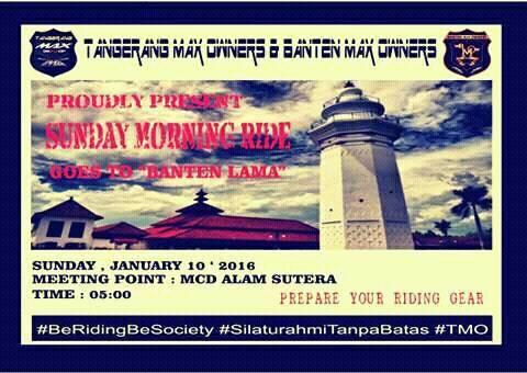 Sunday Morning Ride TMO To Old Banten