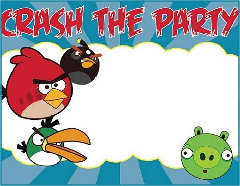 La Super Mamy: Semana de cumples: Angry Birds, invitaciones: