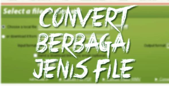 Cara Mudah Merubah Format Berbagai Jenis File Tanpa Instal Sofware