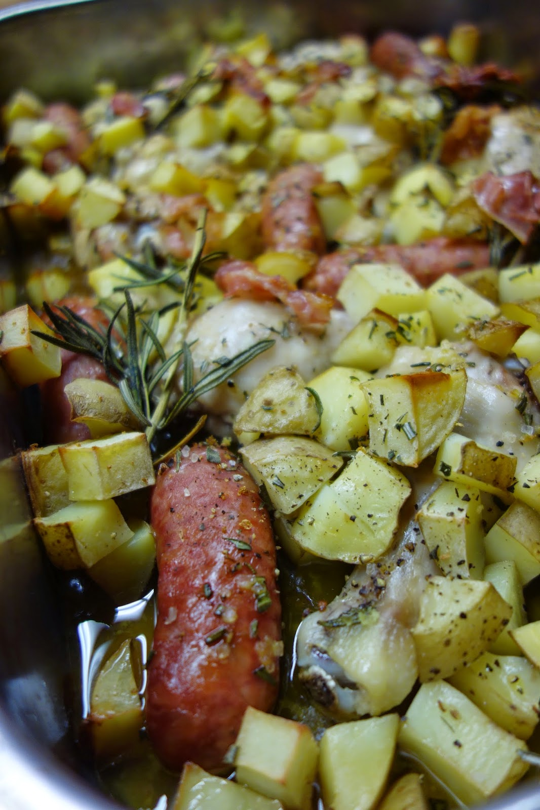 Salsiccia mit Huhn und Rosmarinkartoffeln