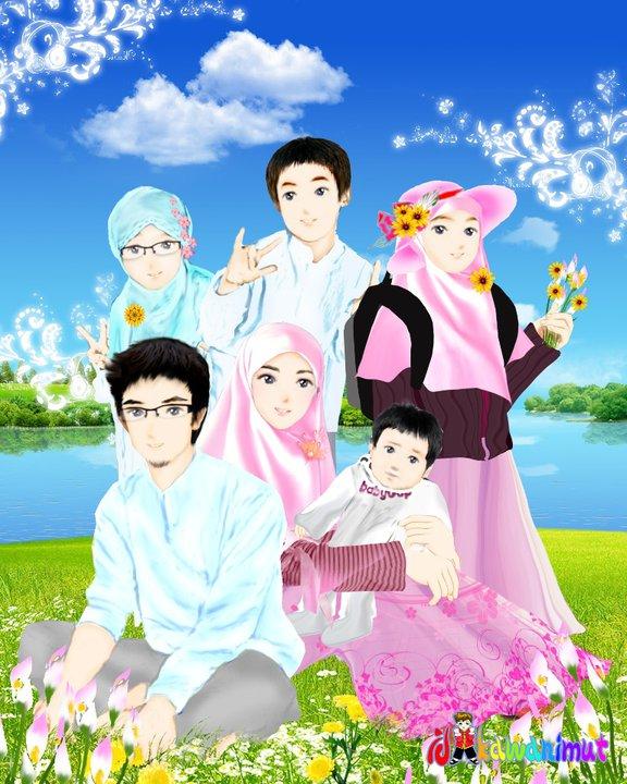 gambar kartun islami share the knownledge