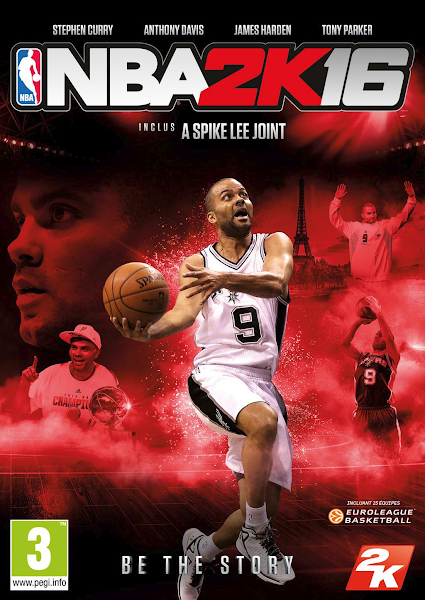 NBA 2K16 Tony Parker Cover