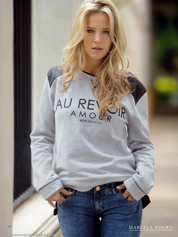 Moda invierno 2014 - Marcela Koury Select ropa otoño invierno 2014.