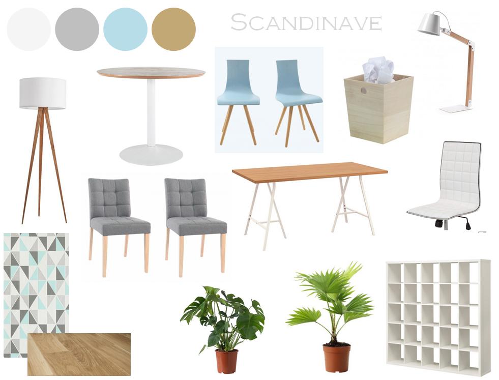 Bureau style scandinave ikea for Bureau treteau ikea