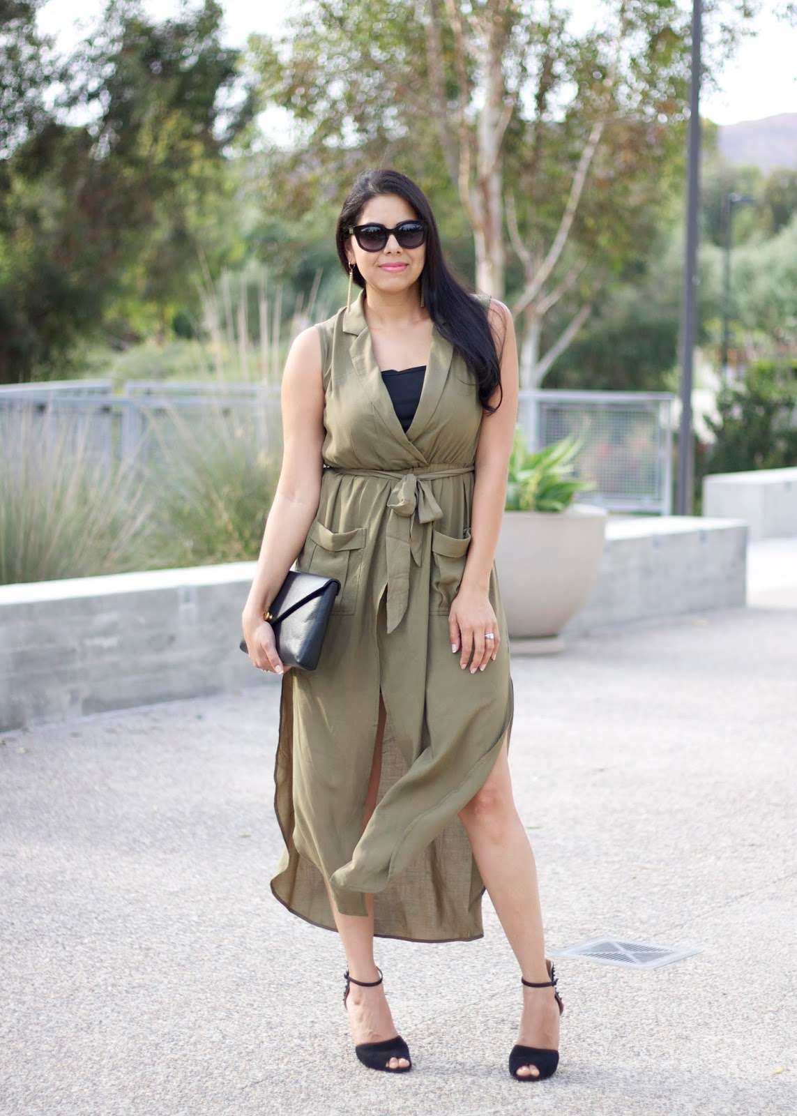 What to wear this fall 2015, olive green dress, dried herb colored dress