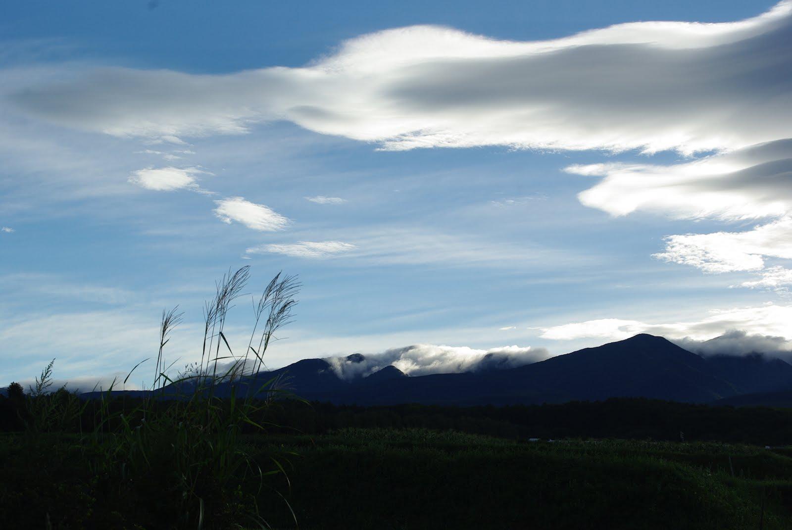 八ケ岳の雲の流れ