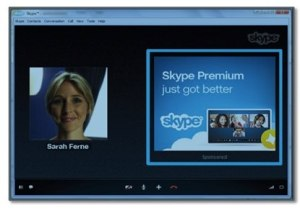 pubblicità durante la chiamata su Skype