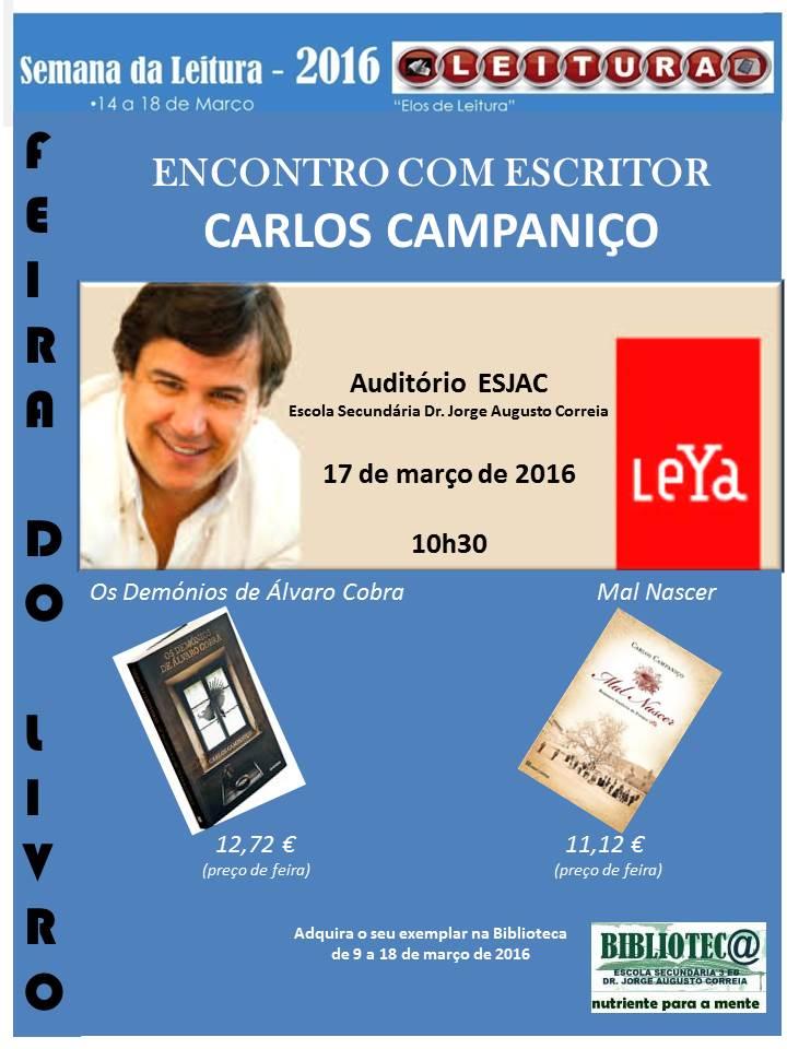 Encontro com escritor Carlos Campaniço