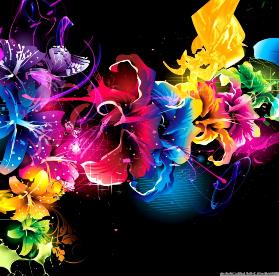 colorful design colorful flower wallpaper designs