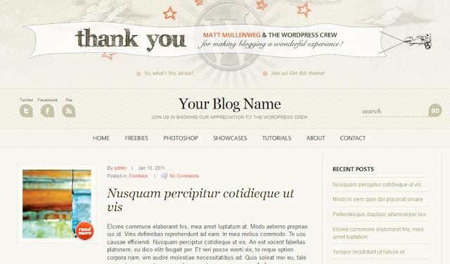 WordPress Anniversary Theme