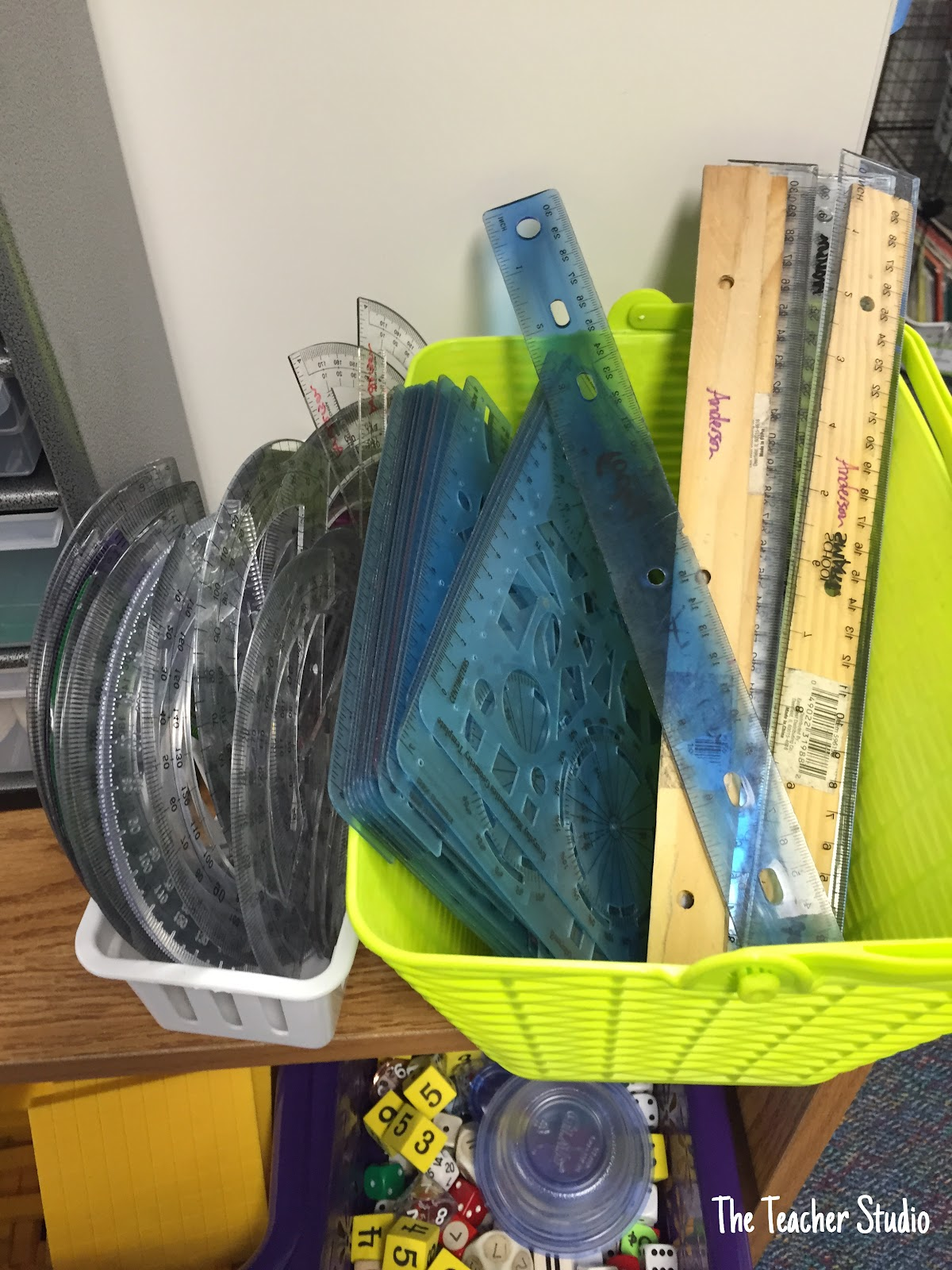 One teacher's 5 secrets to a fantastic math workshop: I have a bookshelf full of supplies that my students can access independently--and that my students are responsible for organizing.