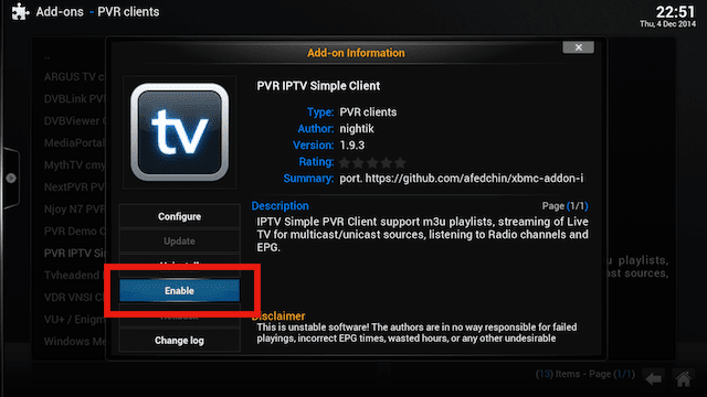 Setup Live TV PVR IPTV Simple Client XBMC. 2014 / 2015 - Tutorial Iptv ...