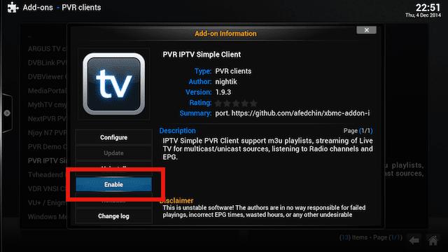 Setup Live TV PVR IPTV Simple Client XBMC. 2014 / 2015