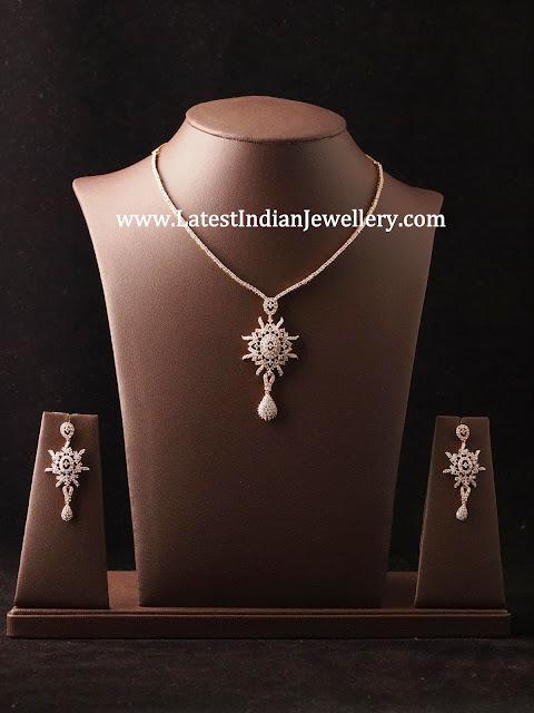 Simple Diamond Necklace Sets