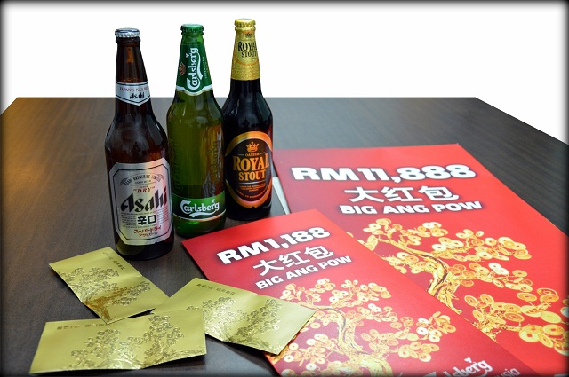 Massive cash and giveaways worth RM6.8 million up for grabs for Carlsberg consumers this Chinese New Year.
