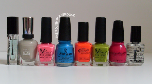 Julep, Sally Hansen, Misa, China Glaze, Color Club, Sinful Colors, Seche Vite