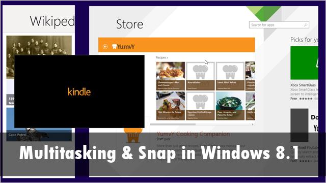 Multitasking dan Snap pada Windows 8.1