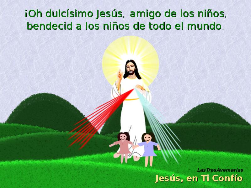imagen divina misericordia y niñas