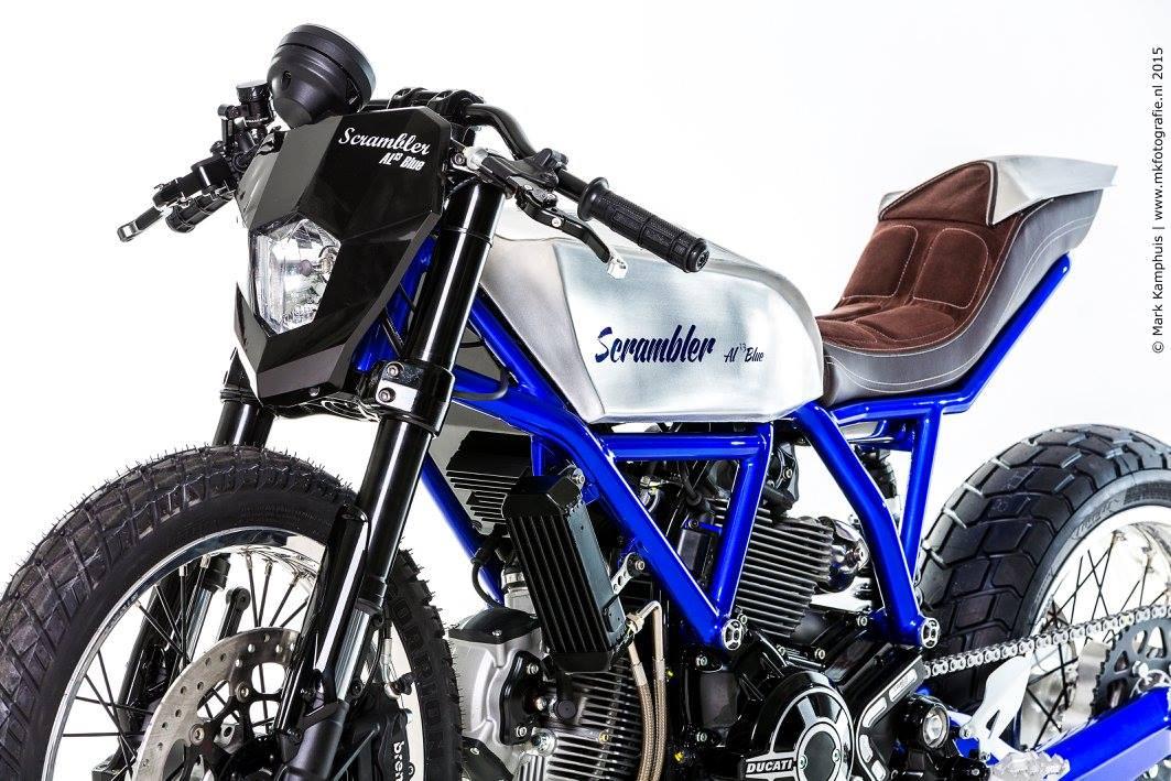 Racing Caf    Ducati Scrambler  AL13 Blue  by Moto Puro