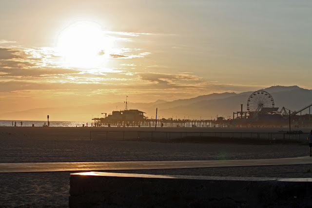 Santa Monica Pier, beach concert venue by lb for (l&l)