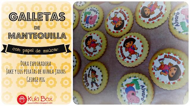 Kuki Box - Galletas de Mnatequilla con papel de azúcar