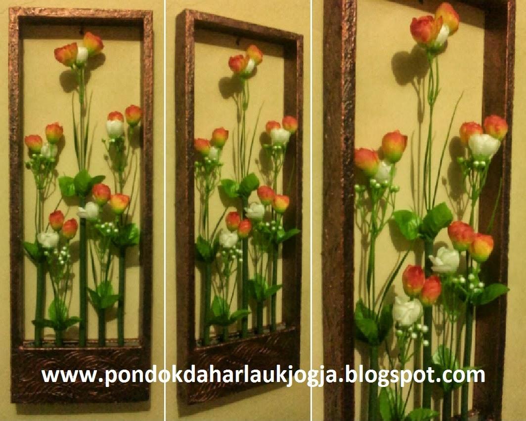 Pigura Bunga Mawar Kuncup Dwiwarna 3D, Rp. 75.000/set