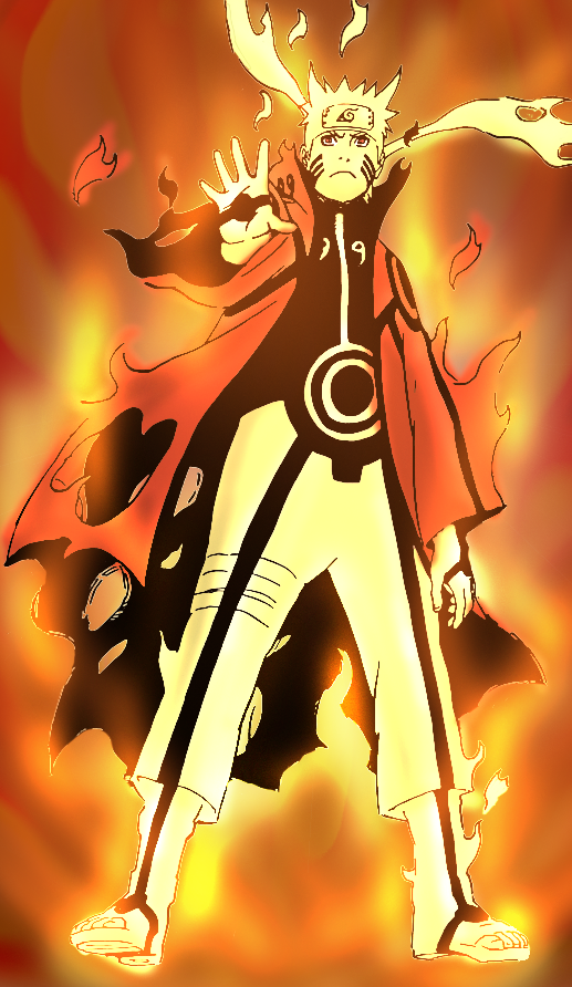 naruto kyuubi cloak mode - photo #18