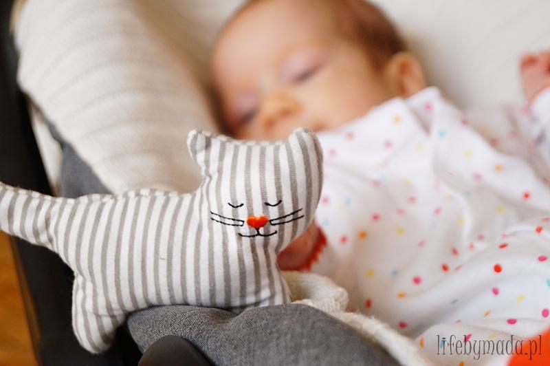 3 miesiąc życia dziecka. Uśmiech od ucha do ucha.:D
