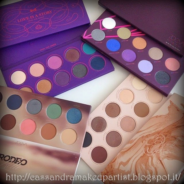 ZOEVA - Nuove Palette -  new palettes - INCI - Pot - 2014 - price -  Naturally Yours  - Rodeo Belle  - Love is a Story  - Retro Future