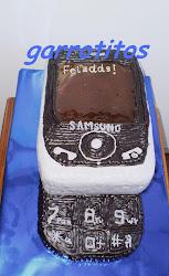 tarta de teléfono móvil