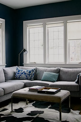 choosing a color for painting interior walls 1 navy the grey home. Black Bedroom Furniture Sets. Home Design Ideas
