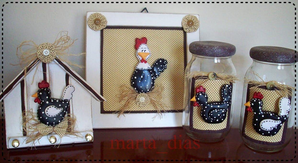 quadrinho galinha porta chaves galinha jogo de potes galinha