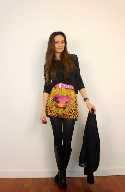 saia H&M versace Animal print